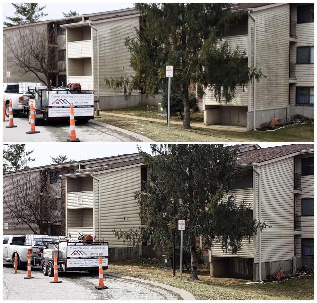 Commercial apartment complex cleaning power washing